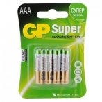 Батарейки GP Super alkaline AAA LR03-4BL 24A-2CR4 4 шт. в уп.