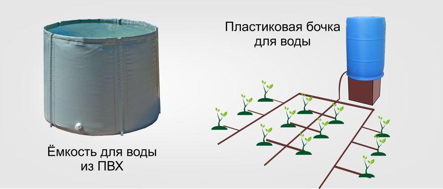 Емкости для воды из ПВХ - складные бочки