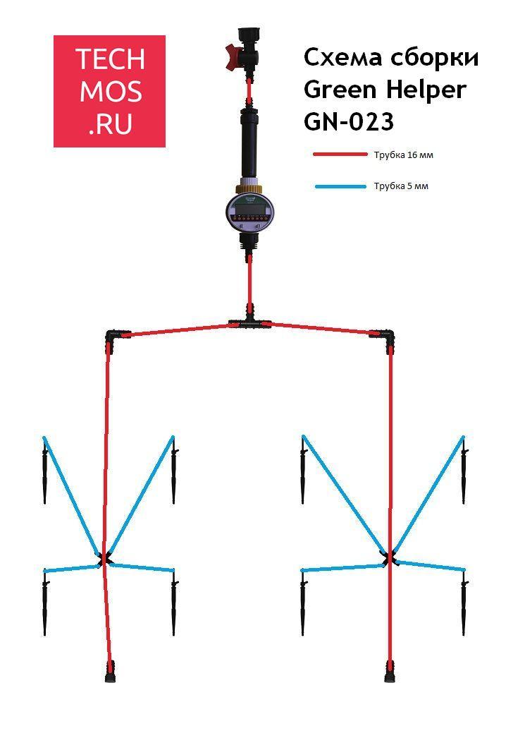 Схема подключения Green Helper GN-023