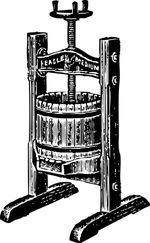 Пример старинного ручного винтового пресса