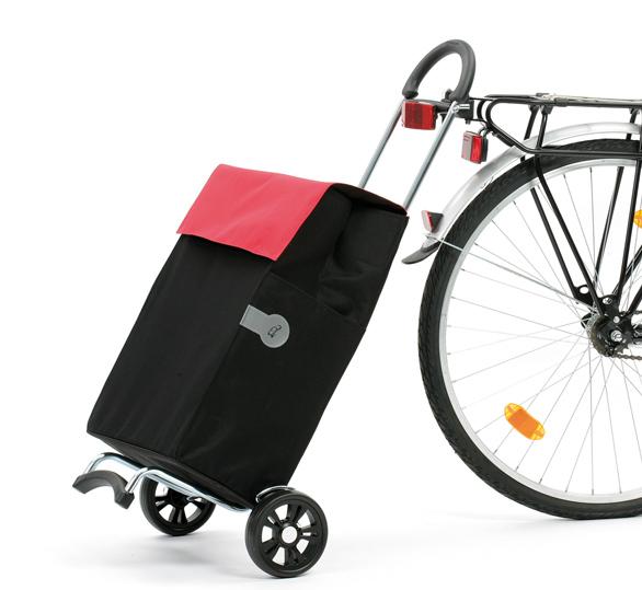 Крепление сумки-тележки к велосипеду